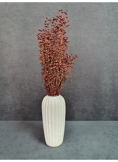 Kuru Çiçek Deposu Kuru Çiçek Keten Otu Demet 45 Cm Bordo  Bordo